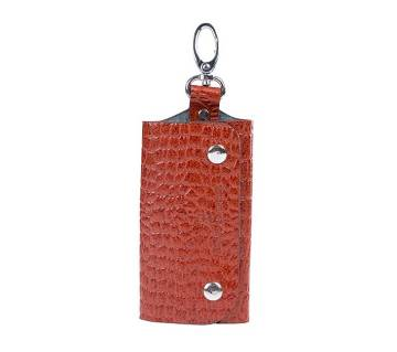 Genuine Leather Brown Key Holder