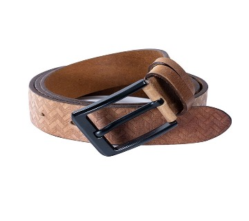 Genuine leather casual belt for men
