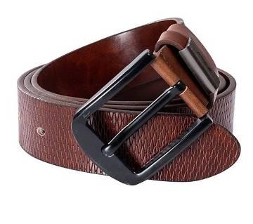 Black buckle casual belt for men