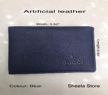 Blue artificial leather wallet for men