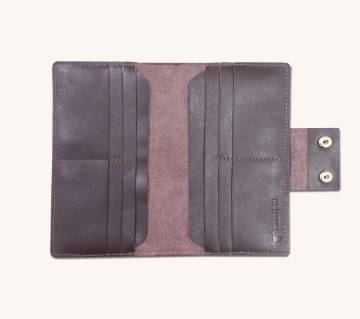 long shaped leather wallet