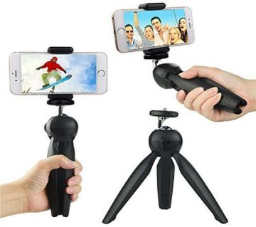 YT 228 Mini Tripod For Mobile and Camera with Mobile Holder