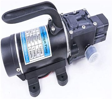 DC 12V 120W 130PSI 10L/Min Mini Water High Pressure Diaphragm Self Priming Pump Return valve type Portable
