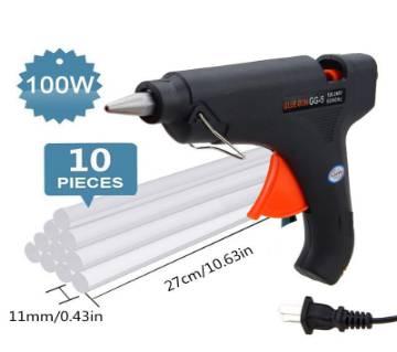 Hot Melt Glue gun 100w + 10Pcs Glue Strick 11 Inch