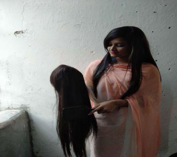 Heat Resistant women hair wig, (Dark Brown), Natural Looking Hair Wig