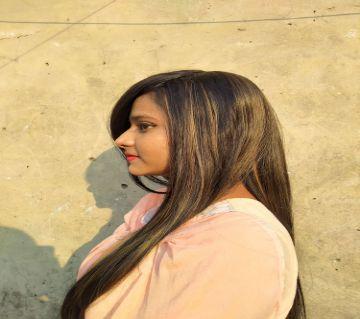 Heat Resistant women hair wig, (Black with Highlight Dark Ash), Natural Looking Hair Wig