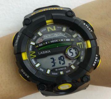 LASIKA W-H9015 Water Resistance/ Waterproof 50m Silicon Digital Watch for Men With Lasika Box - Orange