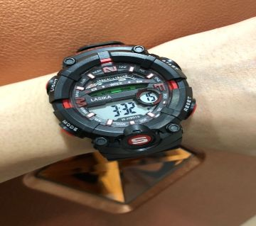 LASIKA W-H9015 100% Water Resistance/ Waterproof 50m Silicon Digital Watch for Men With Lasika Box - RED