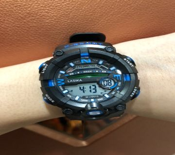 LASIKA W-H9015 100% Water Resistance/ Waterproof 50m Silicon Digital Watch for Men With Lasika Box - Blue