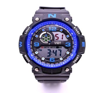 LASIKA W-H9013 Waterproof Silicon Watch for Men With Box - Blue