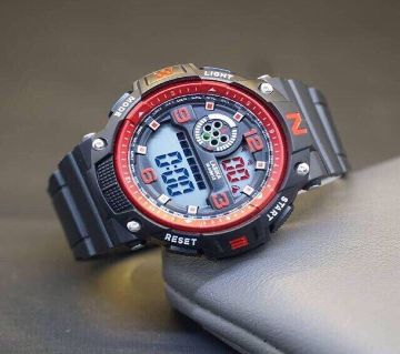 LASIKA W-H9013 100% Waterproof Silicon Watch for Men With Lasika Box - RED