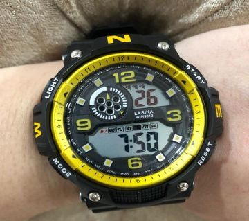 LASIKA W-H9013 100% Waterproof Silicon Watch for Men With Lasika Box -  yellow