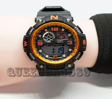 LASIKA W-H9013 100% Waterproof Silicon Watch for Men With Lasika Box -  Orange
