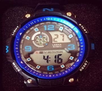 LASIKA W-H9013 100% Waterproof Silicon Watch for Men With Lasika Box -  Blue