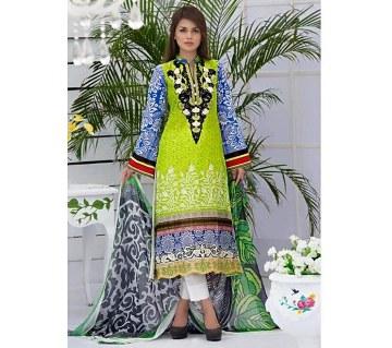 Unstitched Pakistani Lawn Three Piece