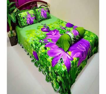 Double Size Cotton Bed Sheet (4 Pcs Set)