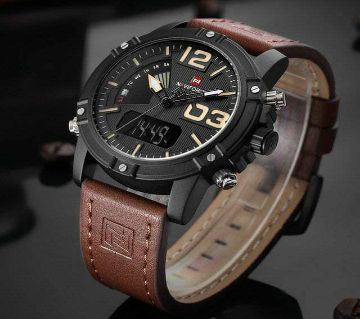 Product details of NAVIFORCE Black Gold Watch Men Fashion Sport Full Steel