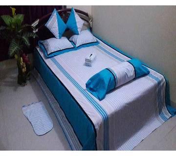 Cotton bed sheet set-8 pcs