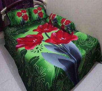 Cotton King Size Bed sheet Set - 4 Piece (BS 007)