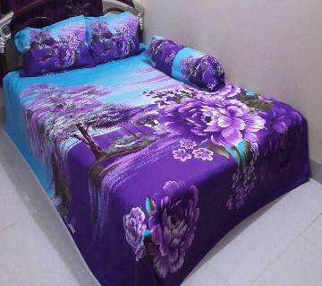 Cotton King Size Bed sheet Set - 4 Piece (BS 005)