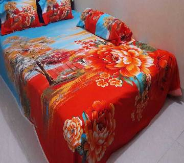 Cotton King Size Bed sheet Set - 4 Piece (BS 006)