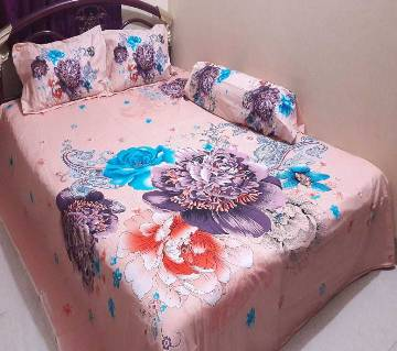 Cotton King Size Bed sheet Set - 4 Piece (BS 002)