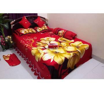 Cotton King Size Bedsheet Set - 8pcs (AF 032)
