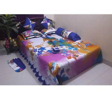 Cotton King Size Bedsheet Set - 8pcs (AF 034)