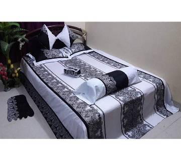 Cotton King Size Bedsheet Set - 8pcs (AF 035)