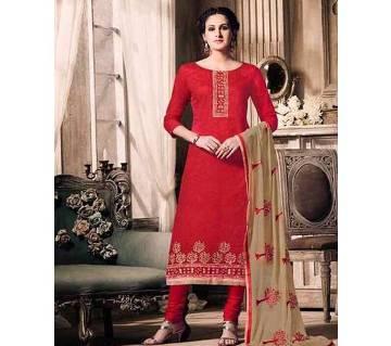 Siya Vol-3 Cotton Jacquard Dress - Unstitched Three Piece