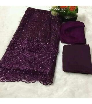 Unstitched Net 4 piece purple colorrr