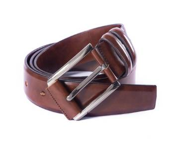 Brown Leather Formal Belt For Men