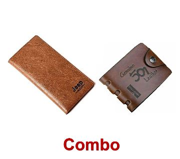 Jeep Artificial Leather Wallet FOR MEN + Genuine 501 Brown for men Combo
