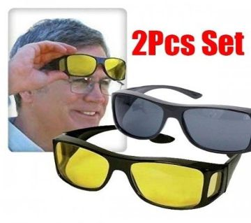 2 In 1 HD Vision Wrap Day and Night Sunglasses