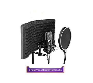 3 Fold Vocal Booth For Studio