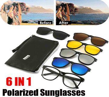 6 in 1 Magnetic Clip Polarized UV Protection Sunglasses