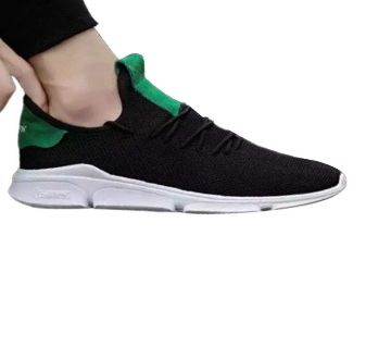 Sneakers man fabrics shoes with high lace up design and rubber material sole