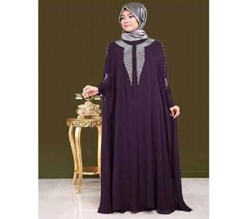 Purple Georgette Borka For Woman