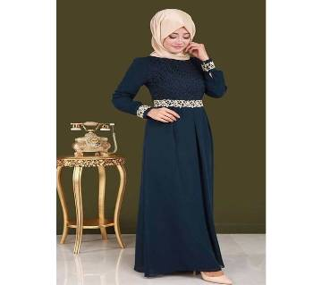 Navy Blue Georgette Borka For Woman
