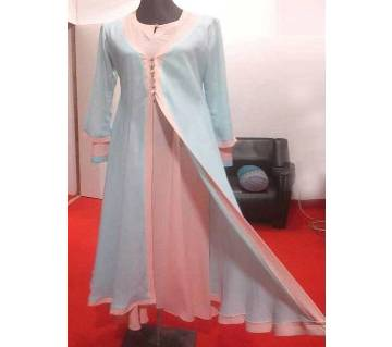 Sky Blue & Pink Georgette  Borka For Woman