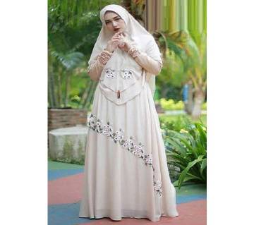Off white Georgette Borka for woman