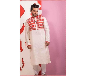 Gents semi long dhupian cotton punjabi