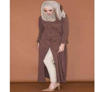 Coffee  Thai cotton Borka For Woman
