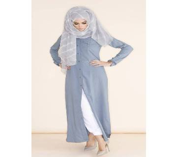 Sky Blue   Thai Cotton Borka For Woman