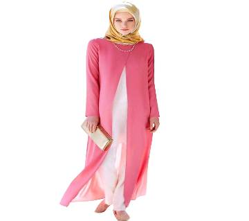 Pink Georgette  Borka For Women