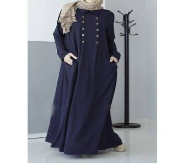 Navy Blue Stretch Jersey Borka For Women