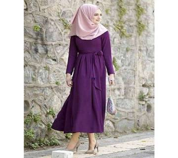 Purple Jersey/China Linen Borka For Women