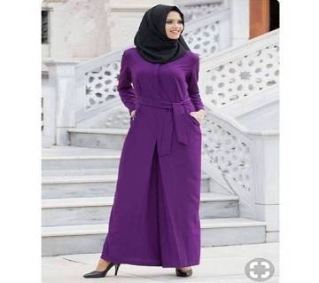Purple China Linen Borka For Women