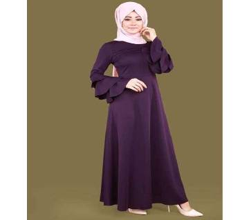 Purple BMW/Shamu Silk Borka For Woman