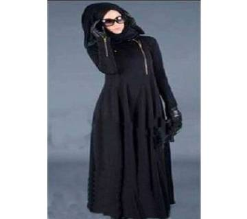 Black Jersey Borka For Woman